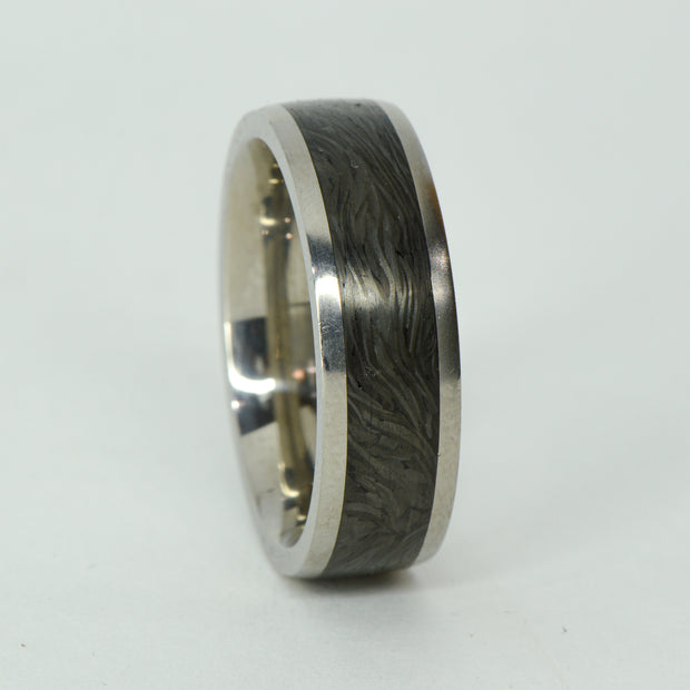 SALE RING -  Titanium, Forged Carbon Fiber - Size 12.75