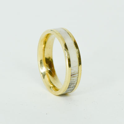 SALE RING -  Yellow Gold, Antler - Size 8.75