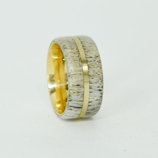 SALE RING -  Yellow Gold, Antler - Size 8