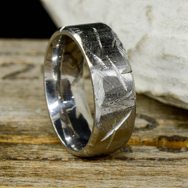 Weathered / Hammered Metal Ring