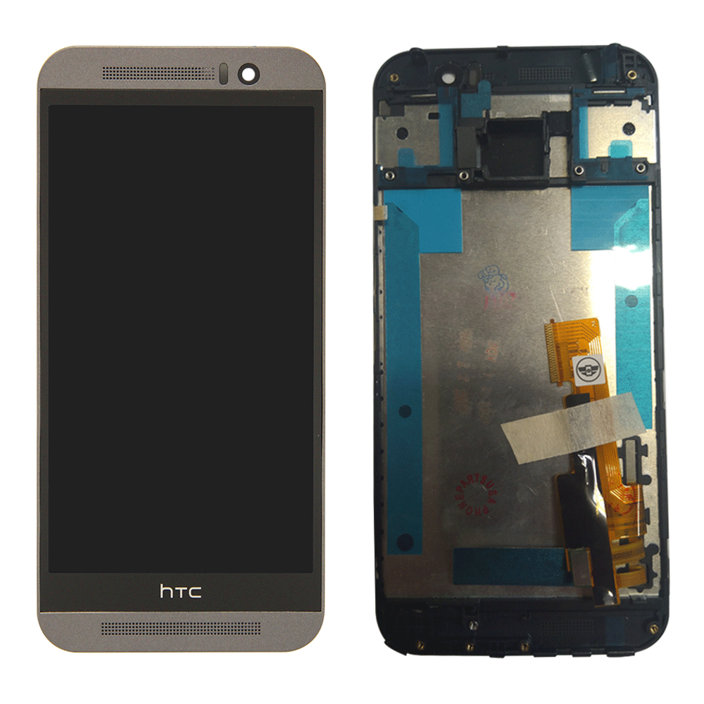 HTC One M9 LCD Assembly with Frame - Black