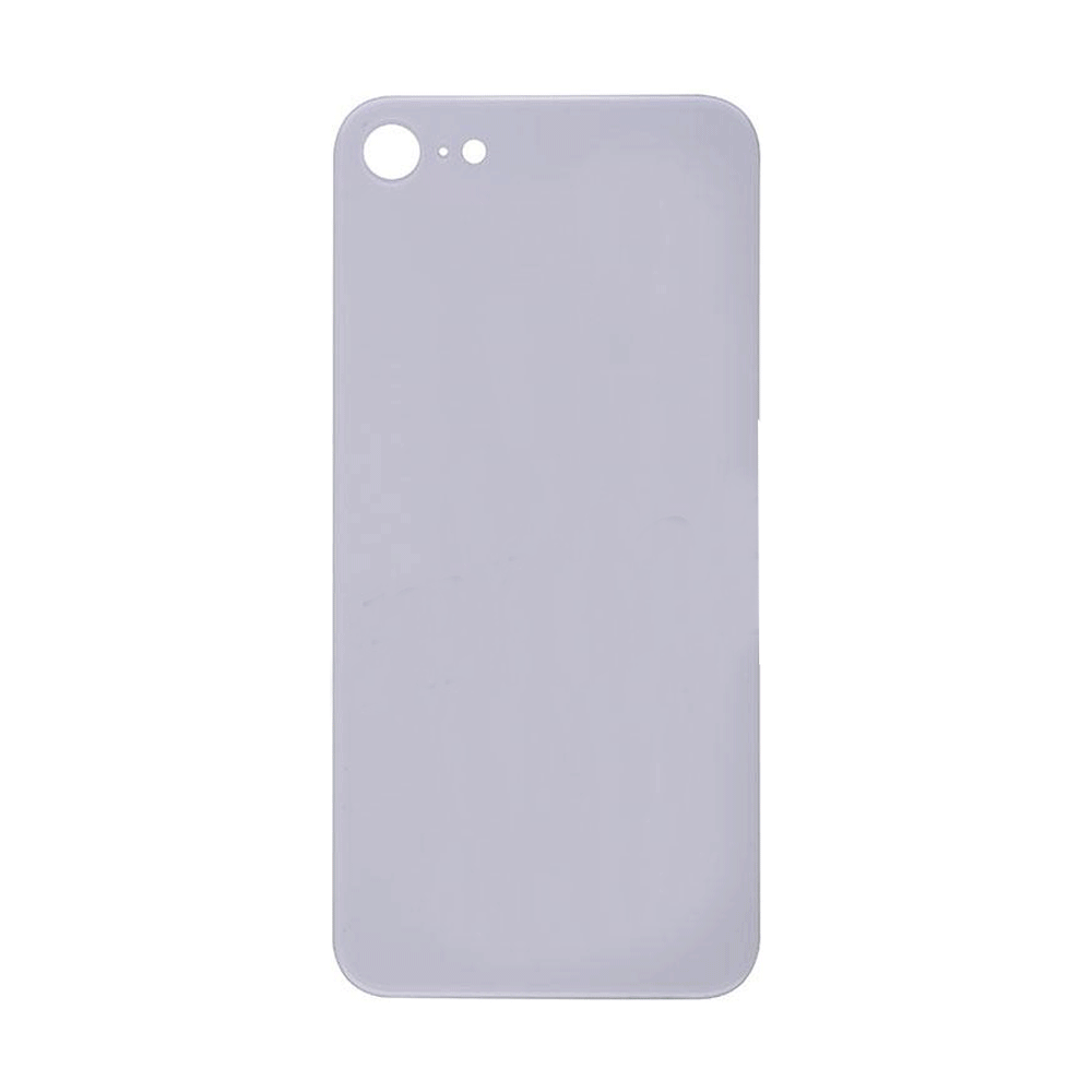 Back Glass Cover for iPhone 8 - White (No Logo)