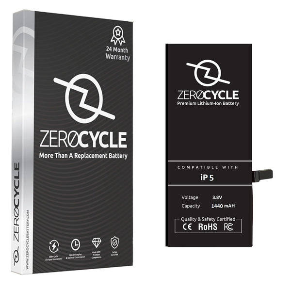 ZeroCycle Battery for iPhone 5 1440mAH mAH Li-Ion Premium