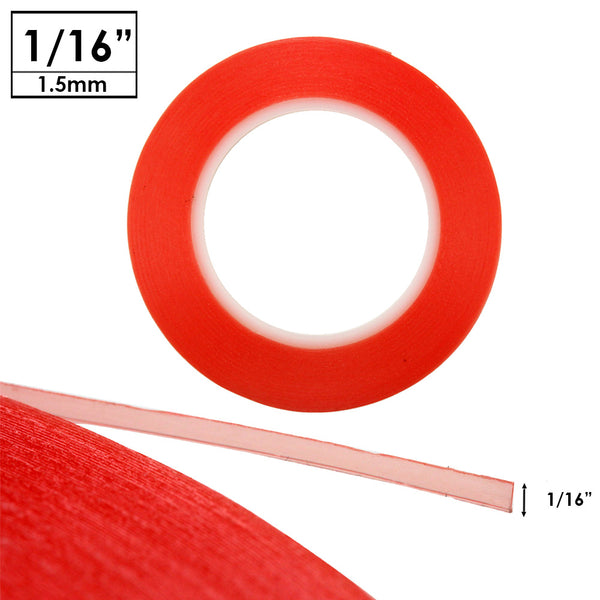 1mm Red Double Sided Adhesive Tape  for iPhone 6 5 Samsung S4 S5 S6 Note 4 5 HTC