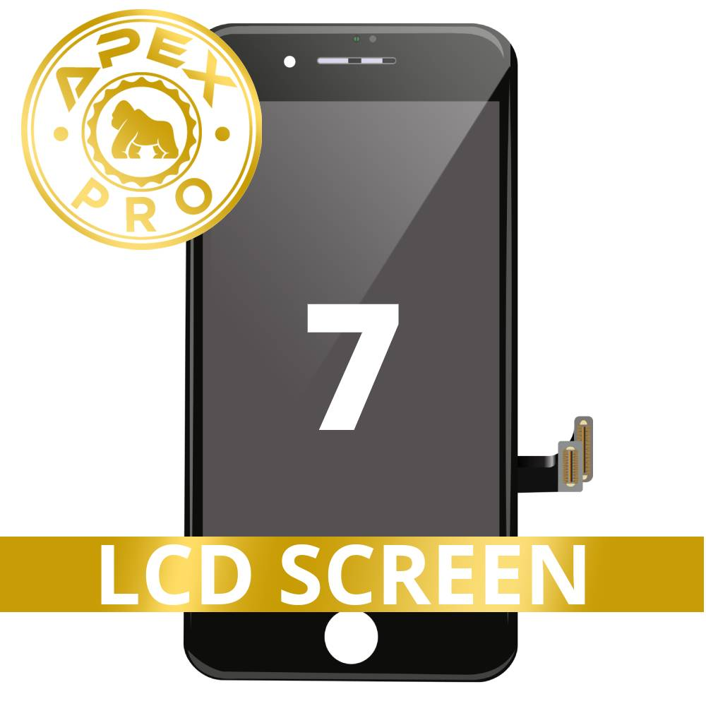 LCD and Touch Screen Digitizer for iPhone 7 - Black (APEX Pro)