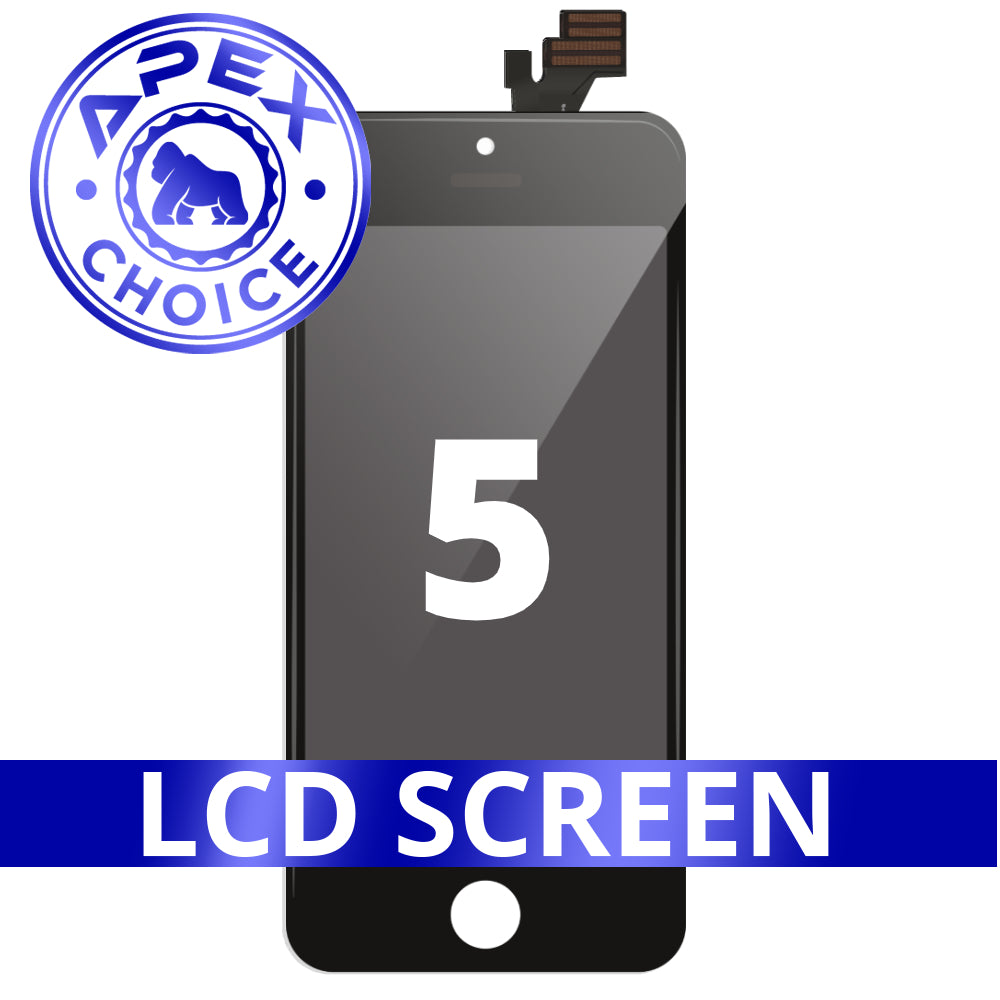 LCD and Touch Screen Digitizer for iPhone 5 - Black (APEX Choice)