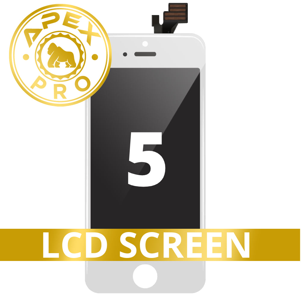 LCD and Touch Screen Digitizer for iPhone 5 - White (FOG/Premium)