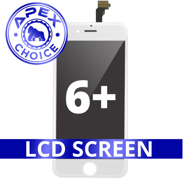 LCD and Touch Screen Digitizer for iPhone 6 Plus - White (APEX Choice)