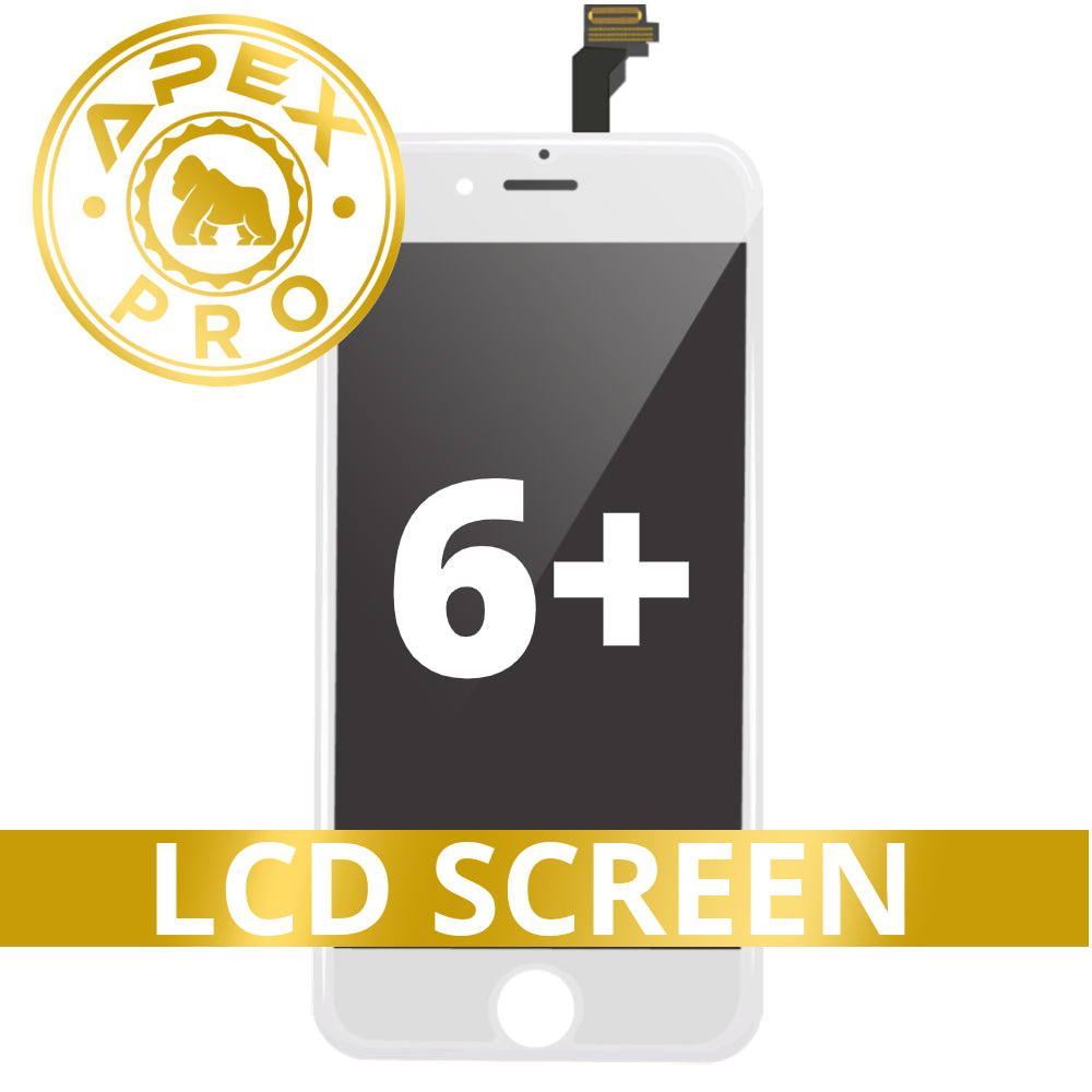 LCD and Touch Screen Digitizer for iPhone 6 Plus - White (APEX Pro)