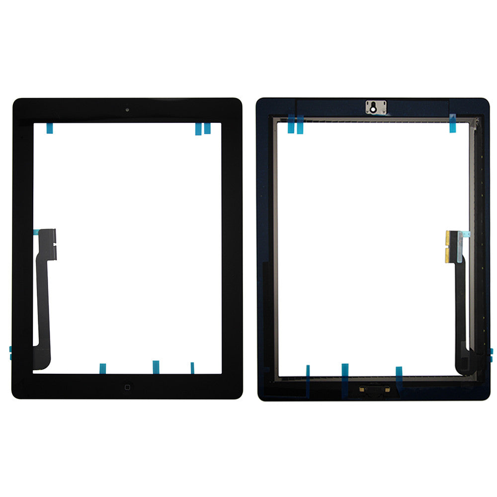 Touch Screen Digitizer With Home Button for iPad 3 - Black (Premium)