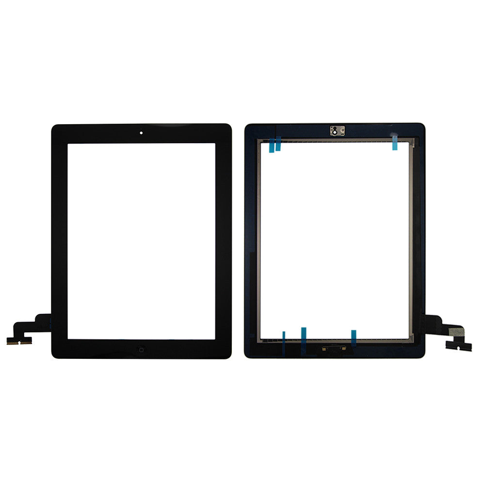 Touch Screen Digitizer With Home Button for iPad 2 - Black (Premium)