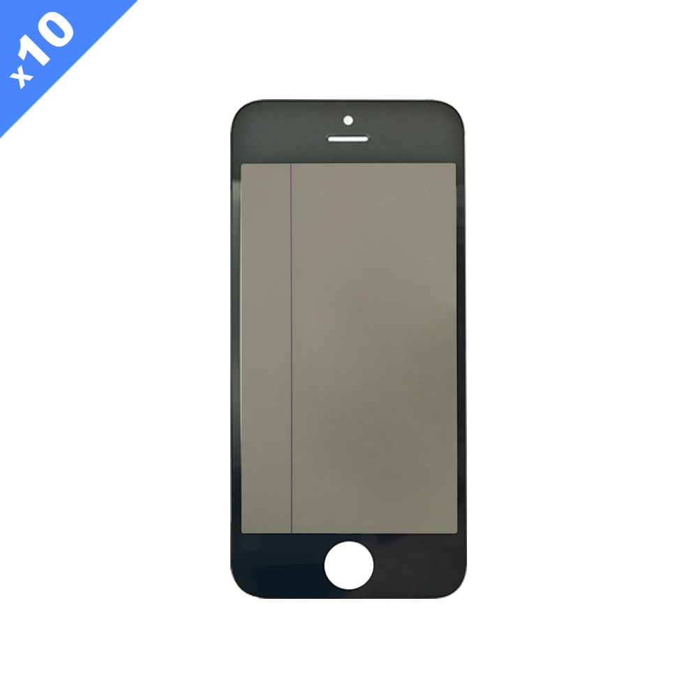 Glass with Preinstalled OCA/Polarizer/Cold Pressed Frame for iPhone 5S - Black (Pack of 10)
