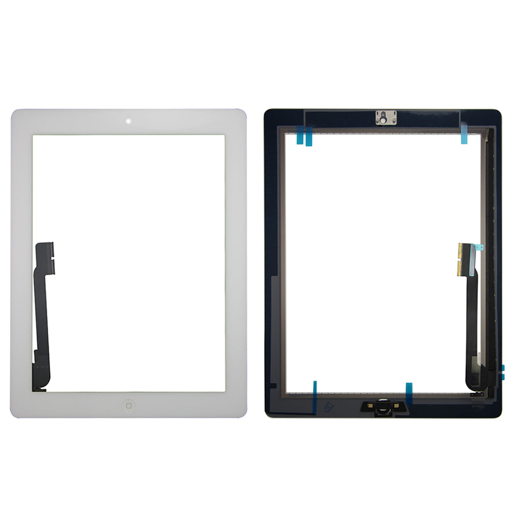 Touch Screen Digitizer With Home Button for iPad 3 - White (Standard)