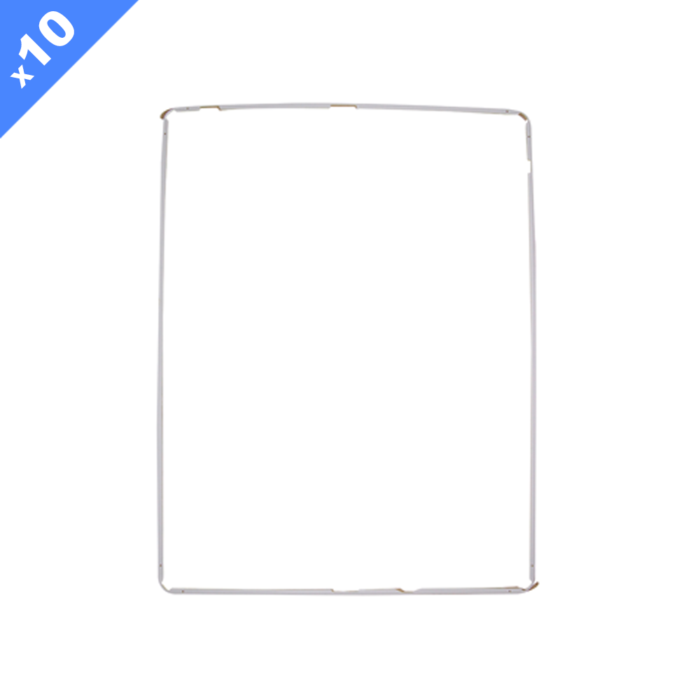 Mid-Frame Bezel with Adhesive for iPad 2 3 4 - White Premium (Pack of 10)