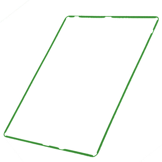 Touch Screen Digitizer Mid-Frame Bezel for iPad 2 3 4 Green