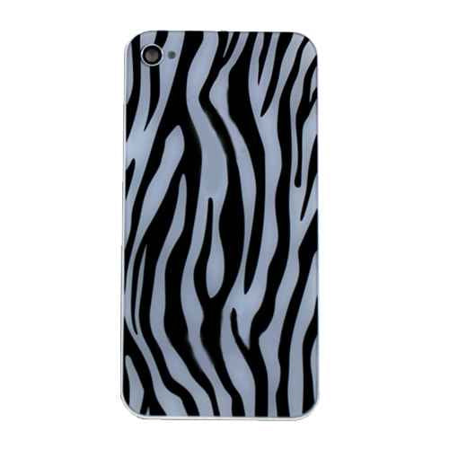 Back Glass Housing Rear Plate Cover for ATT GSM iPhone 4 Zebra