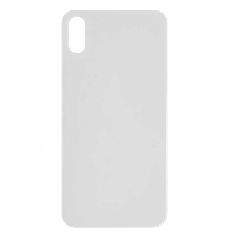Back Cover Battery Door Big Hole for iPhone XS - White (Without LOGO)