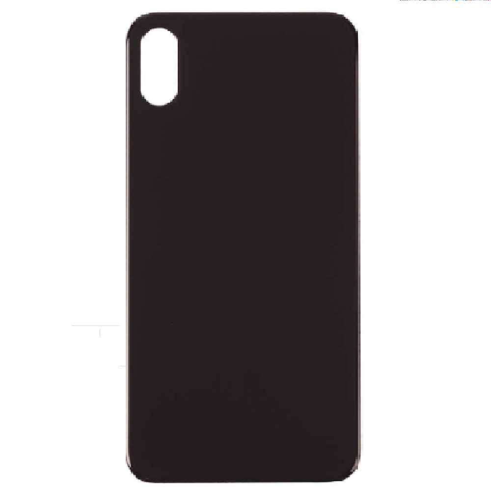 Back Cover Battery Door Big Hole for iPhone X - Space Grey (Without LOGO)