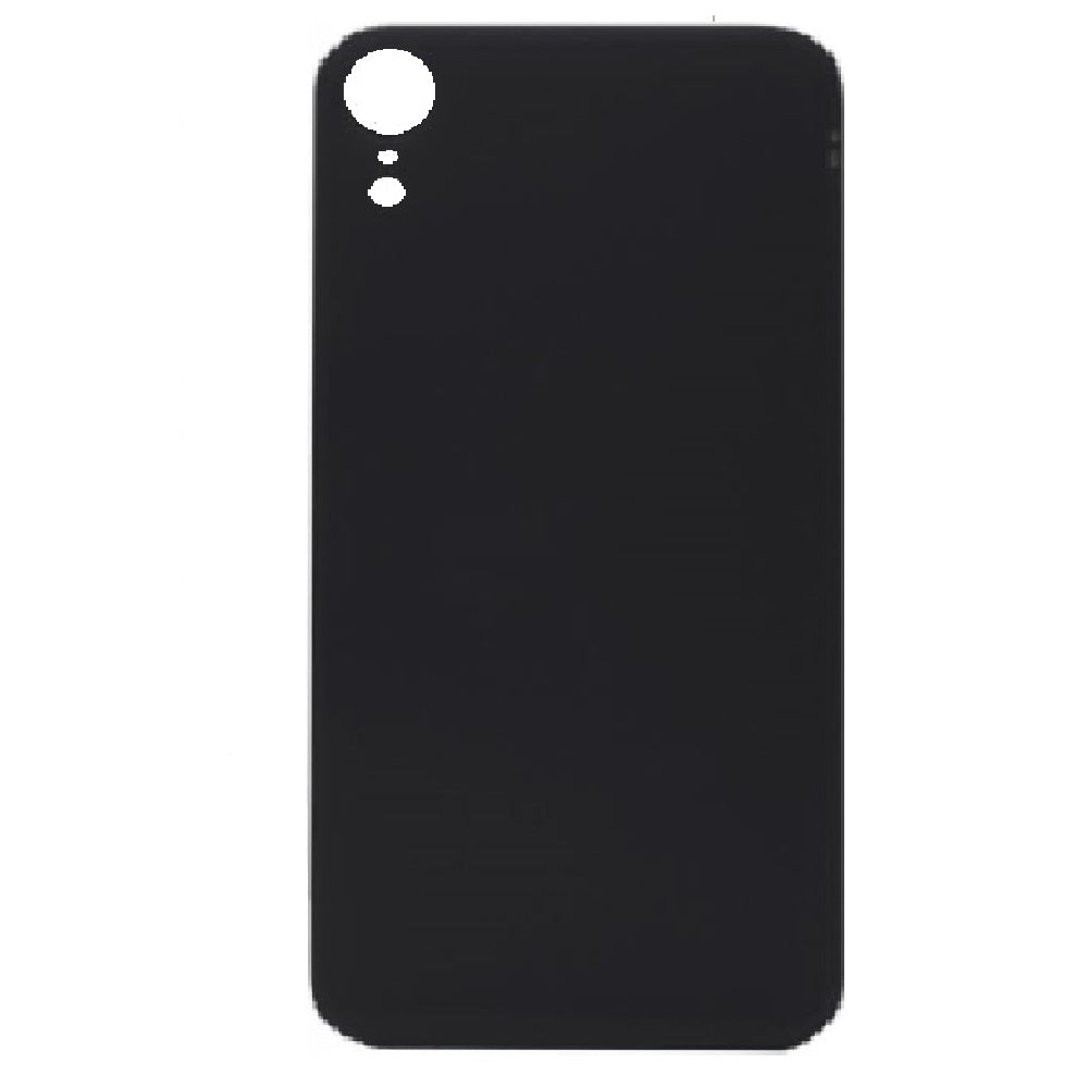 Back Cover Battery Door Big Hole for iPhone XR - Black (Without LOGO)