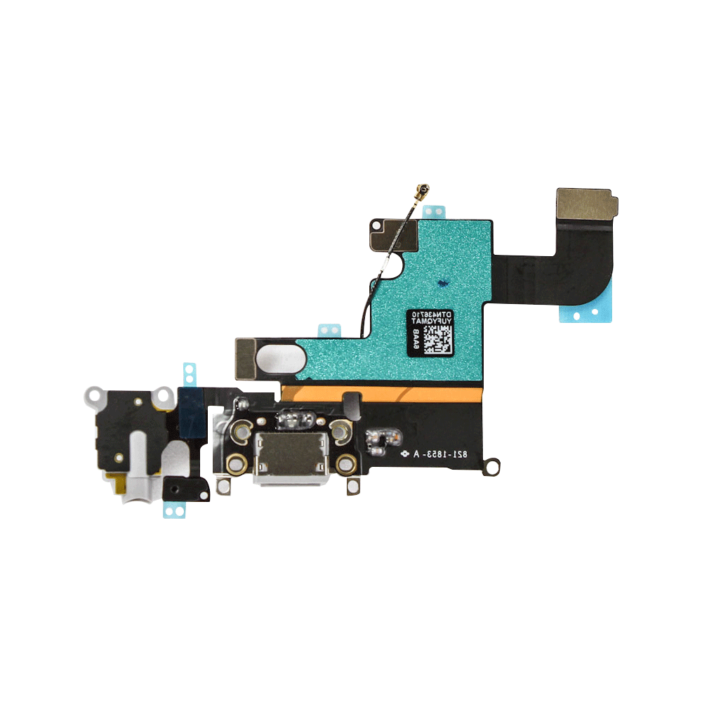 Charging Port and Headphone Jack Flex Cable for iPhone 6 - White