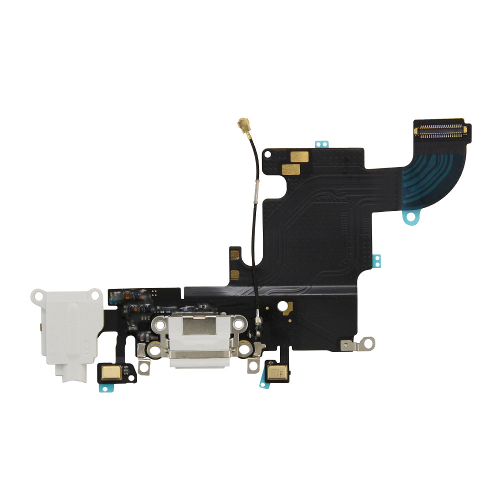 Charging Port and Headphone Jack Flex Cable for iPhone 6s White