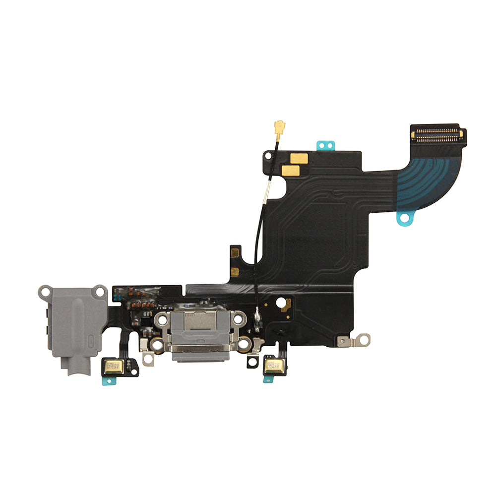 Charging Port and Headphone Jack Flex Cable for iPhone 6s - Space Gray