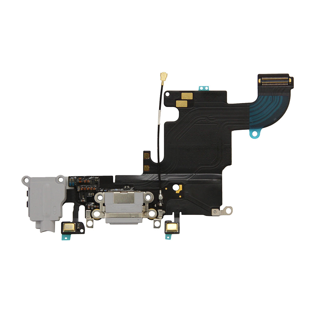 Charging Port and Headphone Jack Flex Cable for iPhone 6s Gray