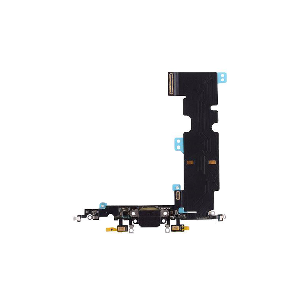 Charging Port Flex Cable for iPhone 8 Plus - Black