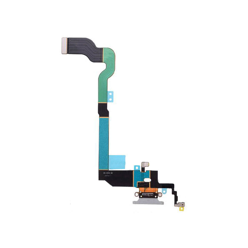 Charging Port Flex Cable for iPhone X - Gray