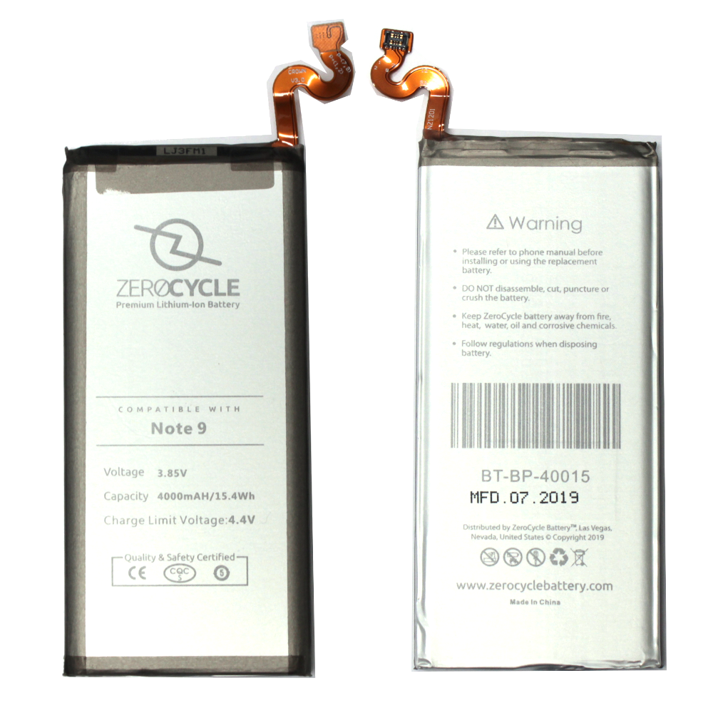 ZeroCycle Battery for Samsung Galaxy Note 9 3.85V 4000mAh Li-Ion Premium