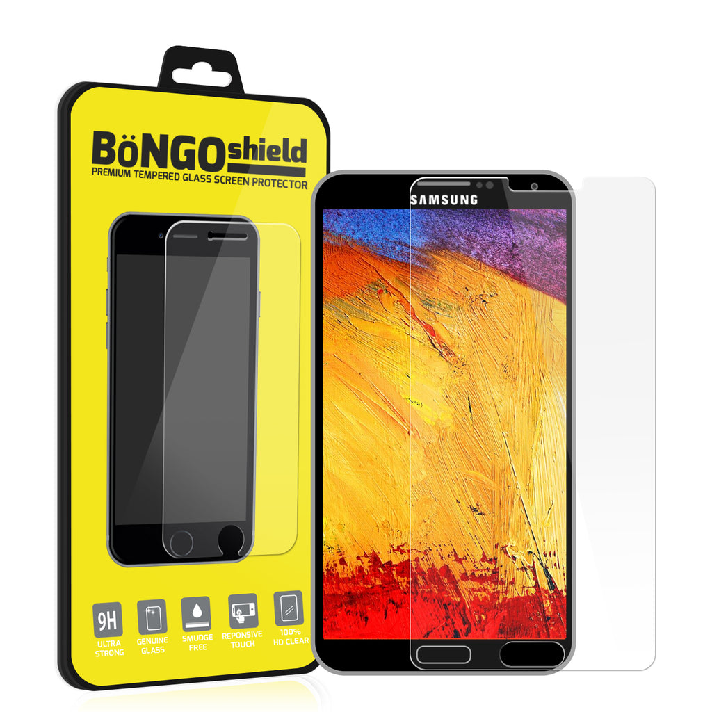 Bongo Shield Tempered Glass Screen Protector - Samsung Galaxy Note 3