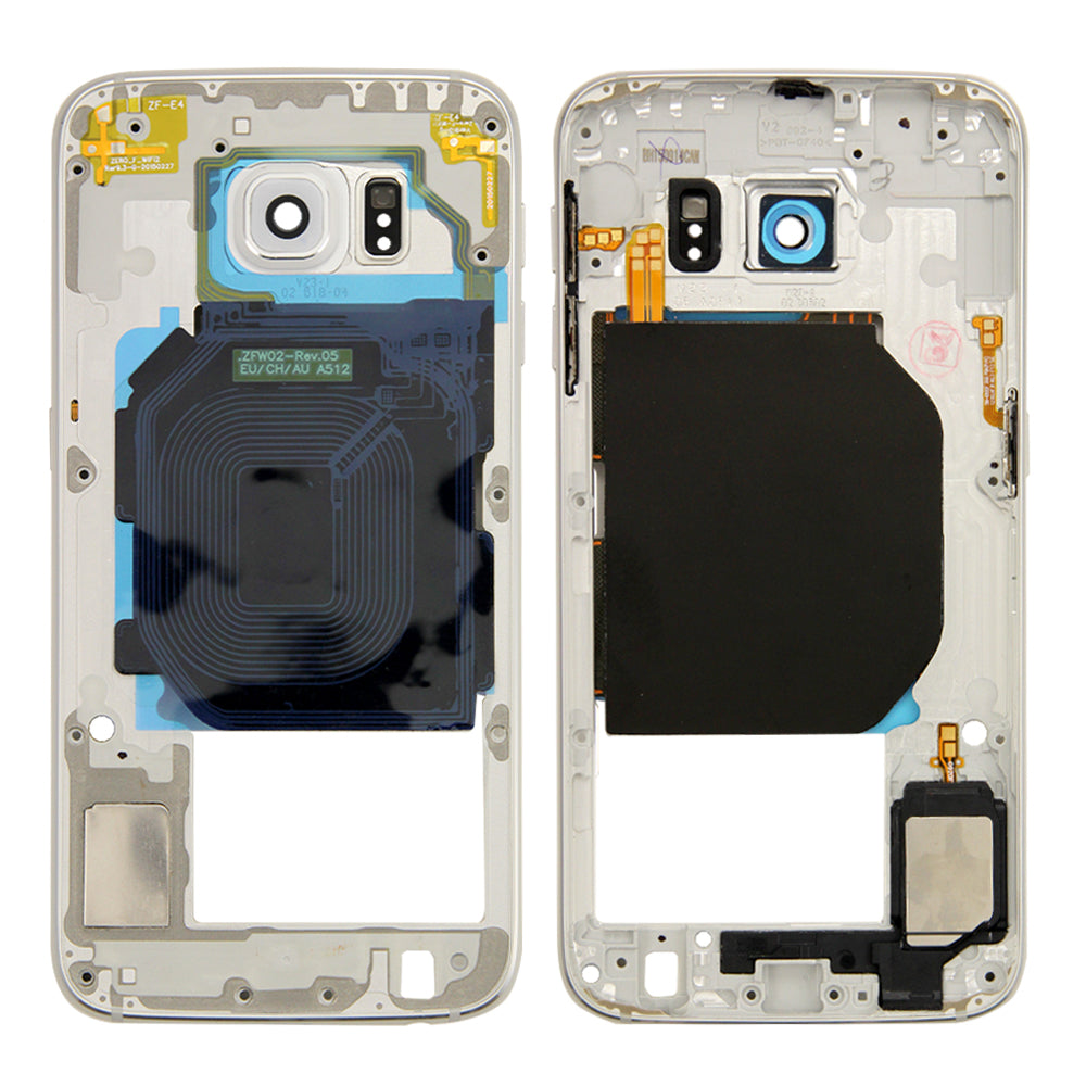 Midframe for Samsung Galaxy S6 G920V G920P - White