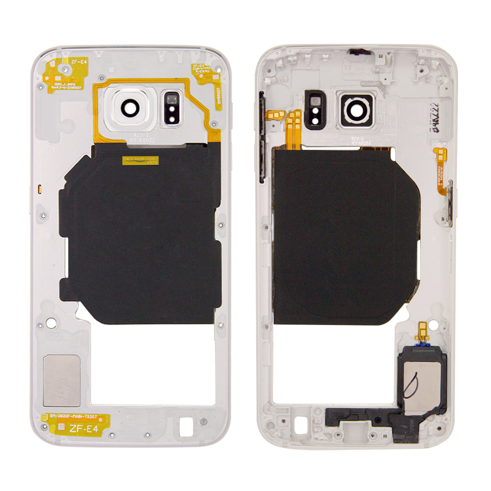 Midframe for Samsung Galaxy S6 G920T G920A - White