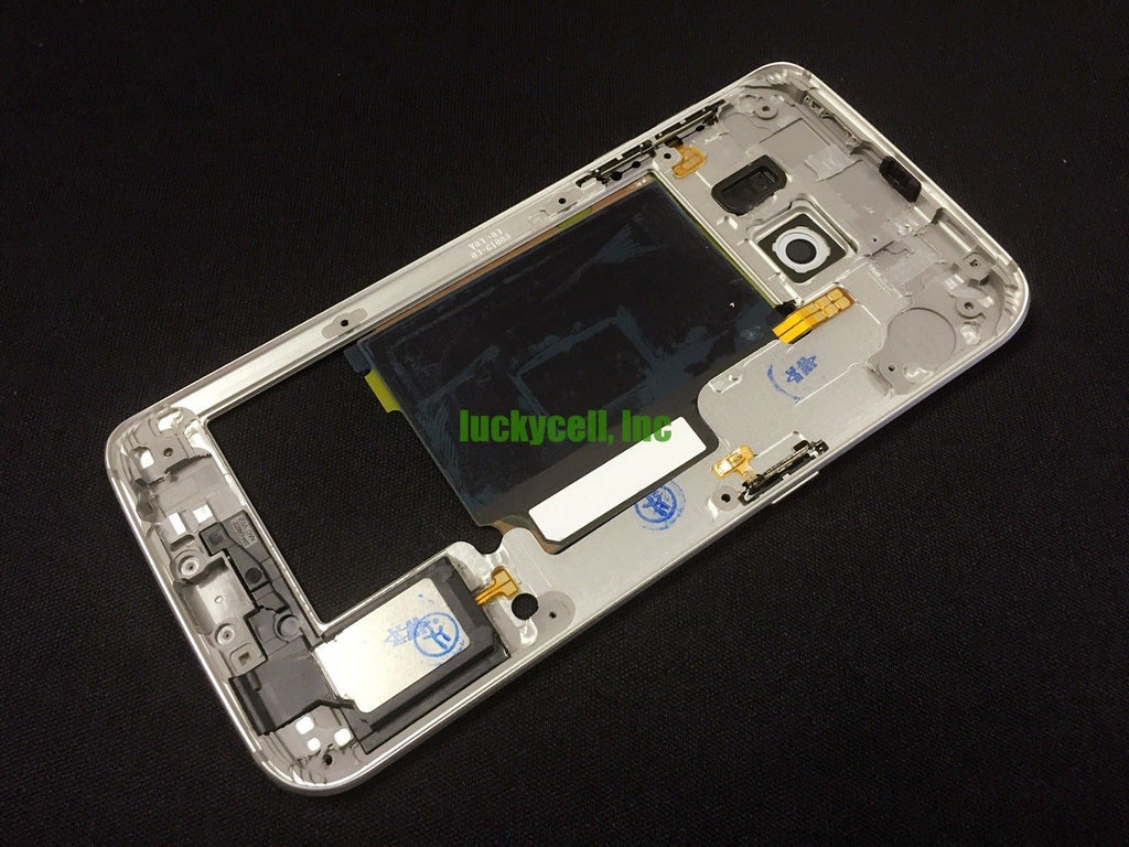 Midframe Replacement for Samsung Galaxy S6 Edge G925T G925A - White