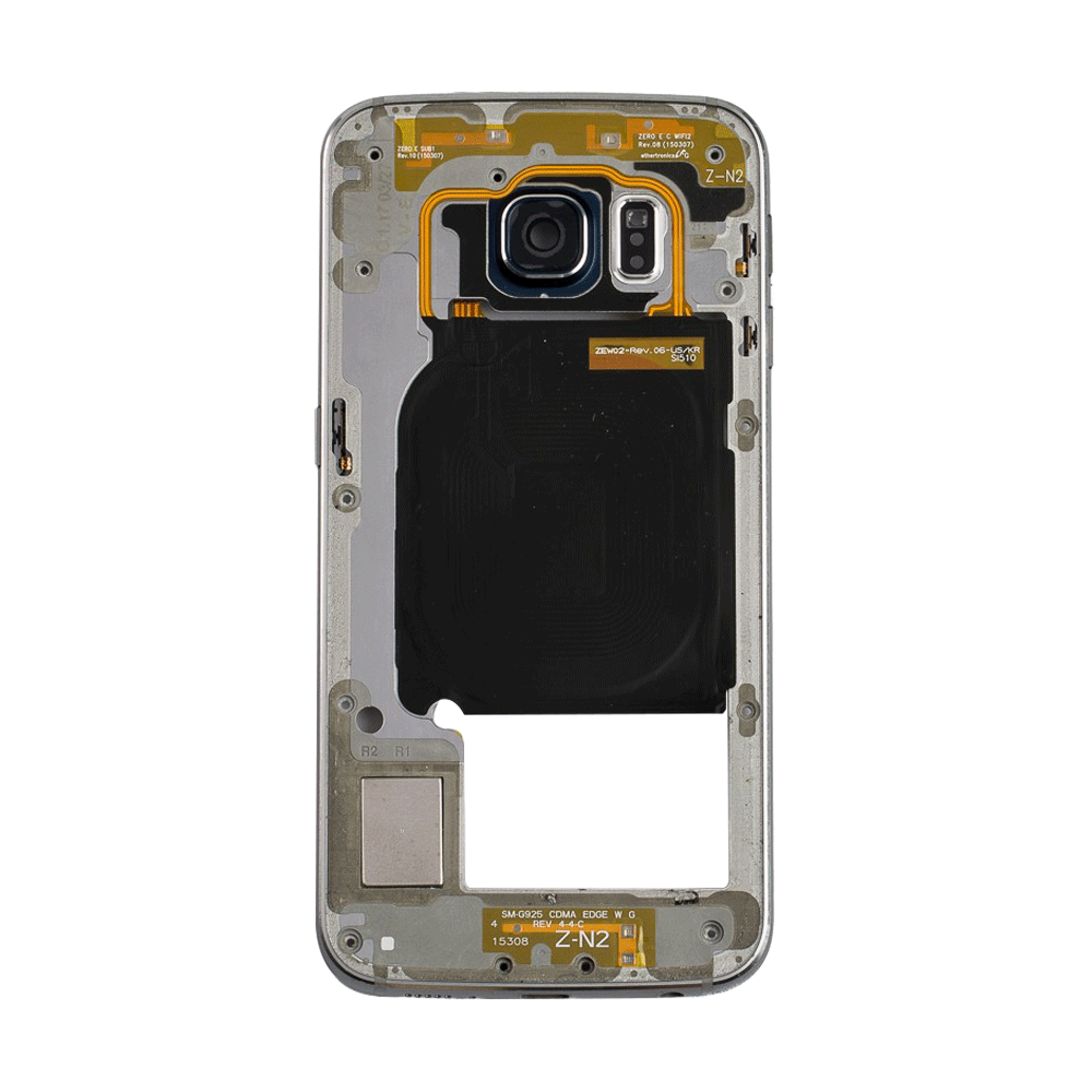 Midframe Bezel for Samsung Galaxy S6 Edge G925A G925T - Black