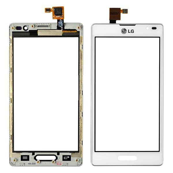 LG Optimus L9 P760 Screen Digitizer With Frame - White Grade A
