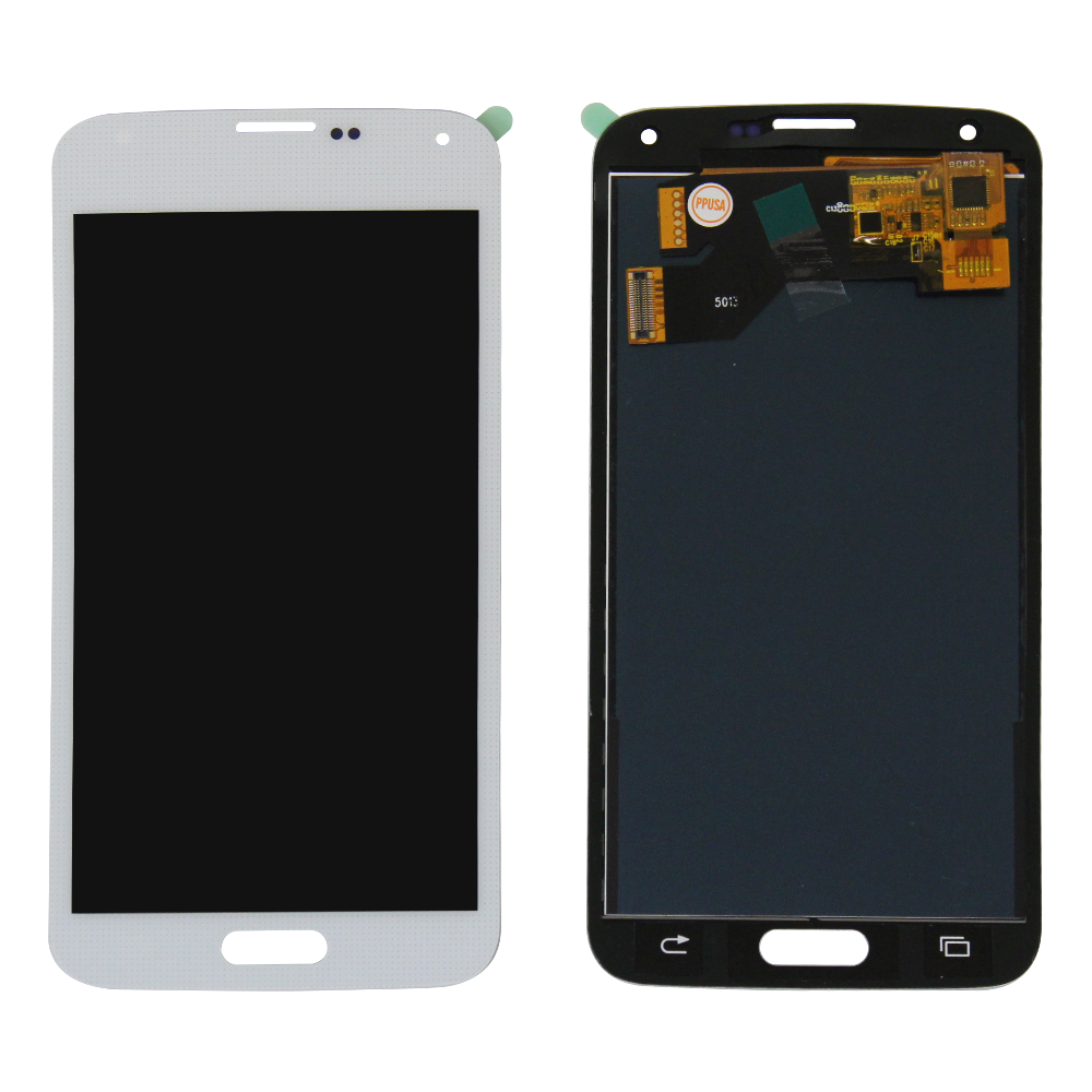 LCD and Touch Screen Digitizer for Samsung Galaxy S5 - White (TFT Aftermarket)