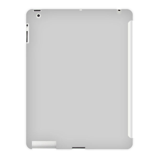 Rubberized Smart TPU Cover Case for iPad 2 Gray
