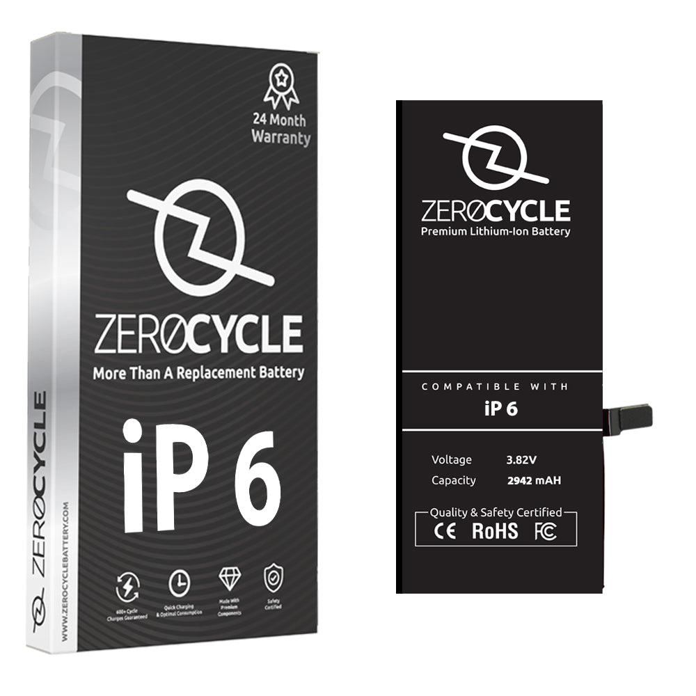 ZeroCycle Battery for iPhone 6 1810mAH Li-Po Premium