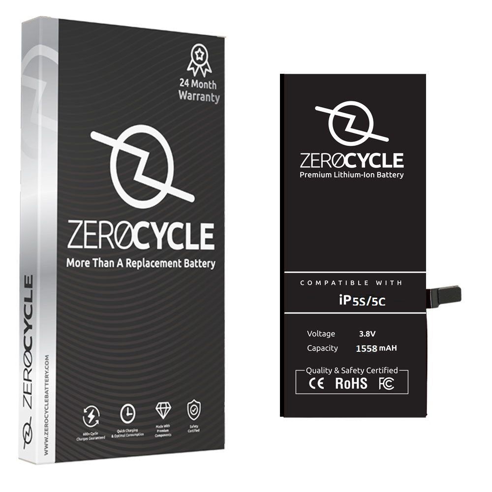 ZeroCycle Battery for iPhone 5S/5C 1558mAH Li-Ion Premium