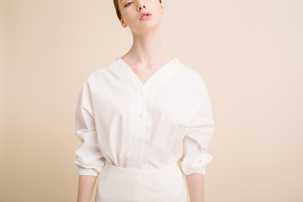 Hana Shirt (Off-White)  One Size