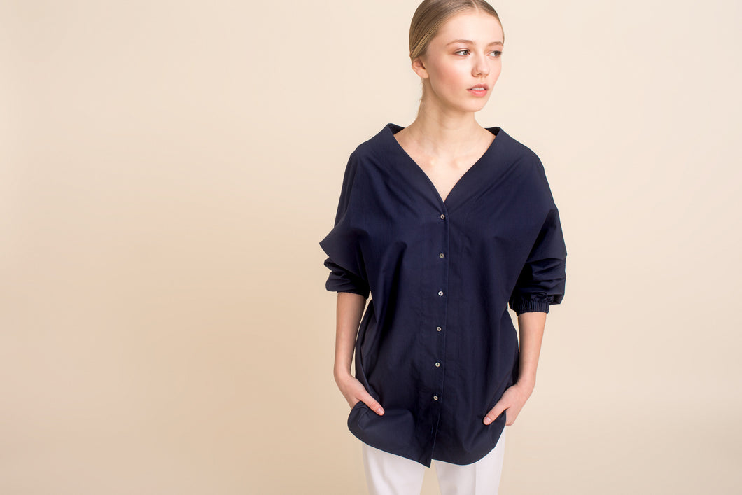 Hana Shirt (Midnight Blue) One Size