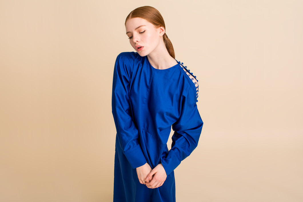 Daon Dress (French Blue) Size: S/M