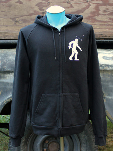 Unisex Black Yeti Zip-Up Hoodie