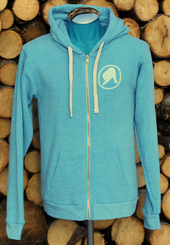 Unisex Light Blue Captain Doug Zip-Up Hoodie