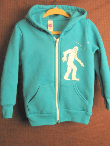 Toddler Teal Yeti Zip-Up Hoodie