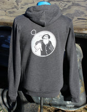 Unisex Charcoal Captain Doug Zip-Up Hoodie
