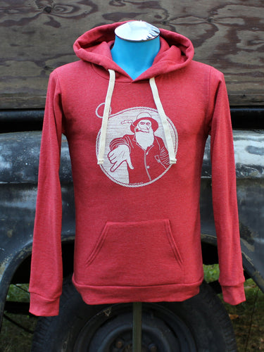 Unisex Heather Red Captain Doug Pullover