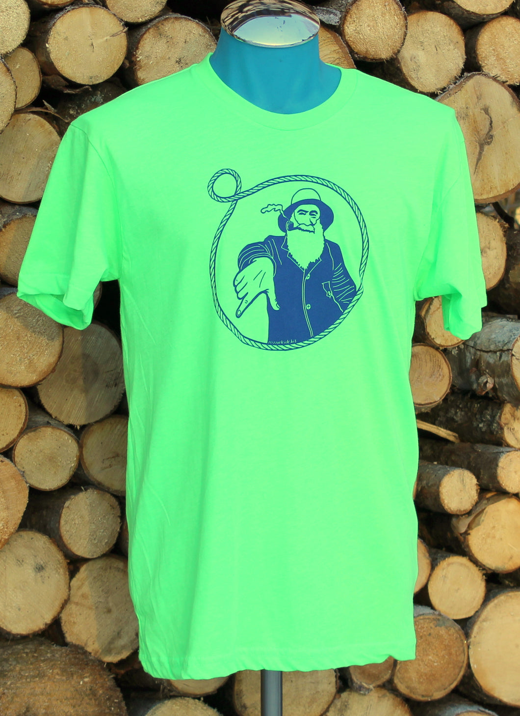 Unisex Florescent Green Captain Doug Tee