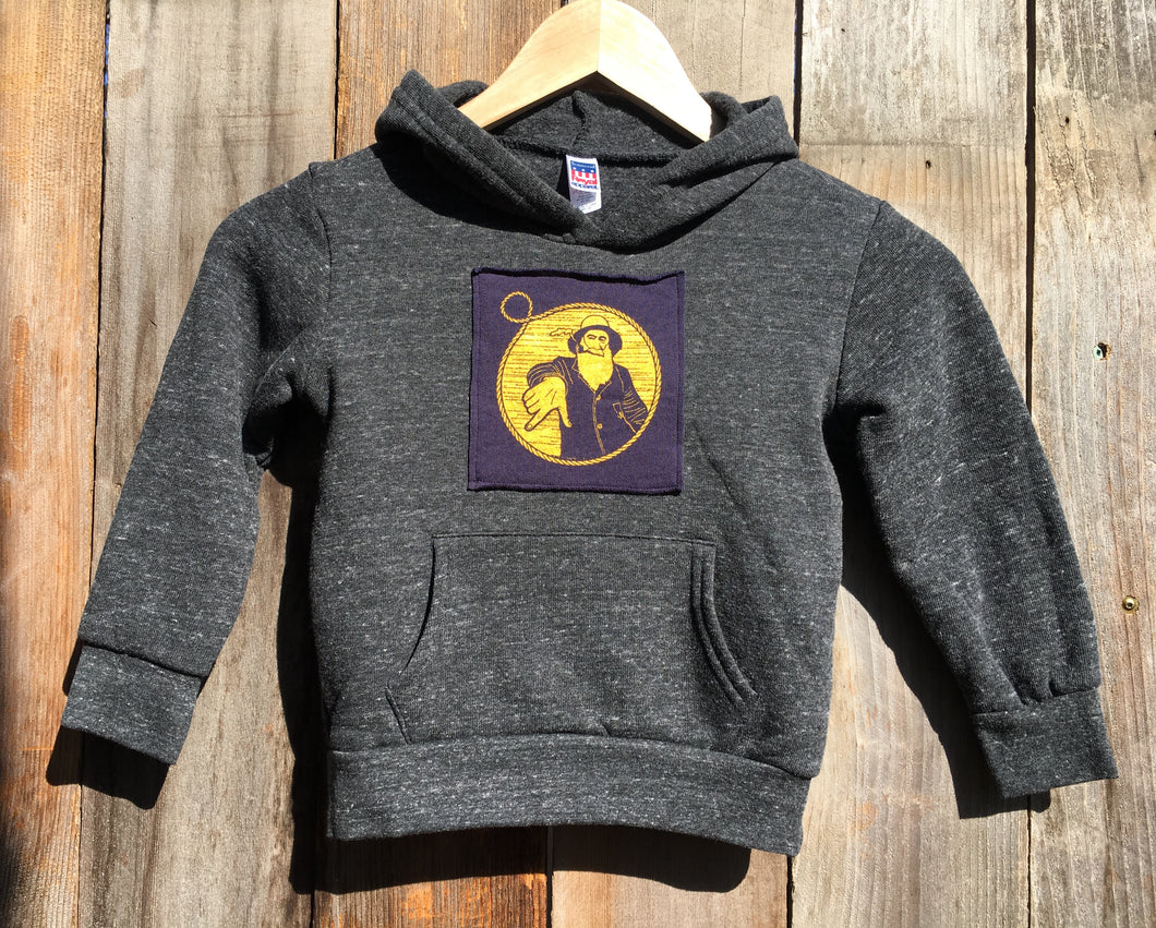 Toddler Charcoal Captain Doug Patch Pullover Hoodie